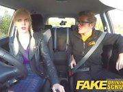 Fake Driving School Teacher fucks up the exam for pert teen