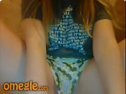 18yo teen on omegle strips and masturbates on cam