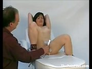 Doctors punishment of pussy tormented patient in medical fetish and kinky