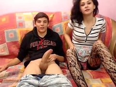 Big Titted amateur Teen in Stockings