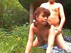 German Schoolgirl Outdoor