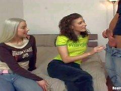 Nesty and her brunette classmate tease Renato