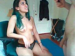 Amateur couple teen on Webcam