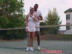Tennis teen jizz black