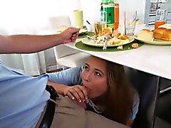 Slutty Daughter at dinner