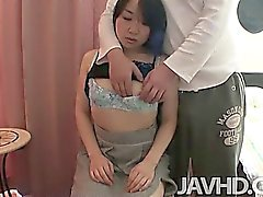 Mayu Kudo finds her hairy pussy filled with a hard dick