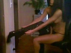 leggings babe strips toys ass on cam