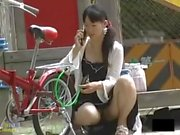 Young Japanese girls without panties