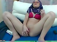 Skinny Arab Egypt Hijab Masturbation To Orgasm On Webcam