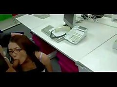 Asian Office Chick Fucked Hard