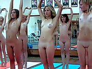 Naked chicks working out Part 1