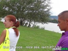 Mofos - Redhead gets picked up in the park