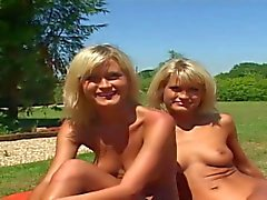 Lucky boy gets to fuck two hungry young blondes