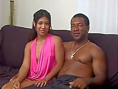 Big black cock in Asian cunt
