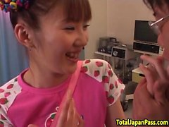 Hairy japanese teen sucking and fucking