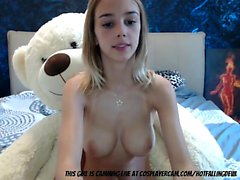 Busty Teen Fooling Around With Her Teaddy Bear...