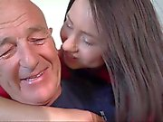 Old man missionary fucking his young sexy wife
