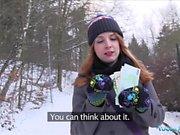 Public Agent Inked ginger Irina Vega earns cash for fucking