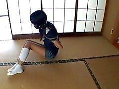 Asian schoolgirl tied up