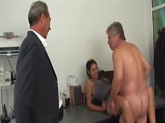 Rose latin girl vs two oldmen