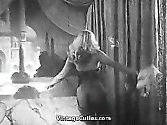 Sexy Blonde Babe Dancing Striptease