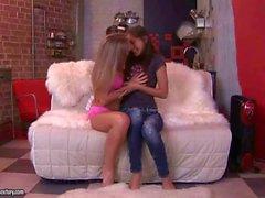 Beautiful teens making love
