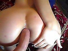 Cute Teen GF Spreads Ass on Webcam