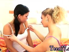 Sperm swallowing teen and real teen Girlfriends toying each