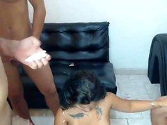 Horniest Amateur 19yo Asian Teen fucked a fat guy on Webcam