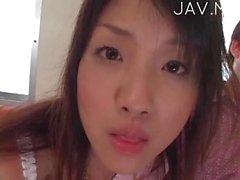 Jap school girl gets blowjob with facials 06