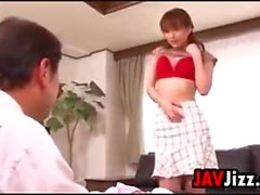 Japanese MILF Sucks On A Cock