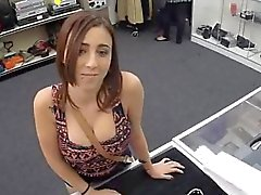 Chick fucked by pawn shop owner