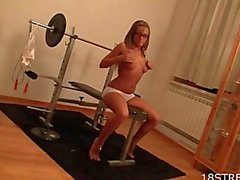 Sexy workout for hot teen