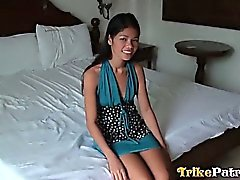 Stunning Filipina teen is fucked and creampied by white guy