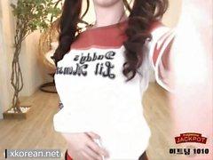 Korean teen cosplaying as Harley Quinn.