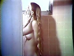 Blonde betty with long hair makes out with girl and blows dude