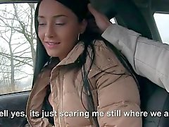Sweet teen hitchhikes and gets pounded