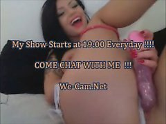 Beautiful brunette camgirl love playing wetpussy