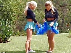 When Girls play - Hot lesbian cheerleaders