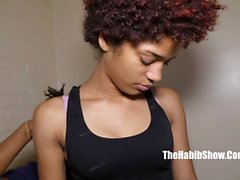 Cute ebony skinny teen screwed by a BBC