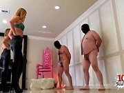 Hot pornstar ballbusting with cumshot