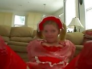 Pig tailed teen blows and anals