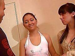 Lusty interracial threesome