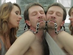Super Hot Young Trophy Wife Beats and Strapon Fucks Hubby into Submission!