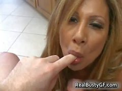 Horny mom plugs young cock in her holes