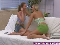 Naughty lesbian teens petra and kelan nipple suck