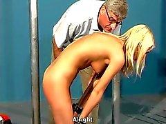 BDSM real casting Anett 19yo