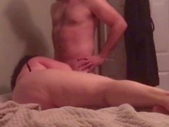 Bbw fucks young coworker with cuck hubby