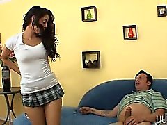 Sultry teen taking on massive cock