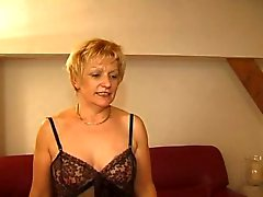 FRENCH MATURE 7 blonde mom milf and a young man